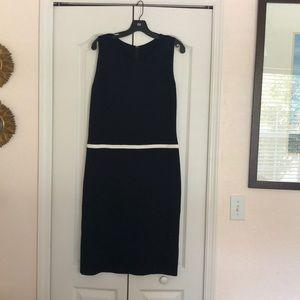 St John Classic Navy Color Block Knit Dress